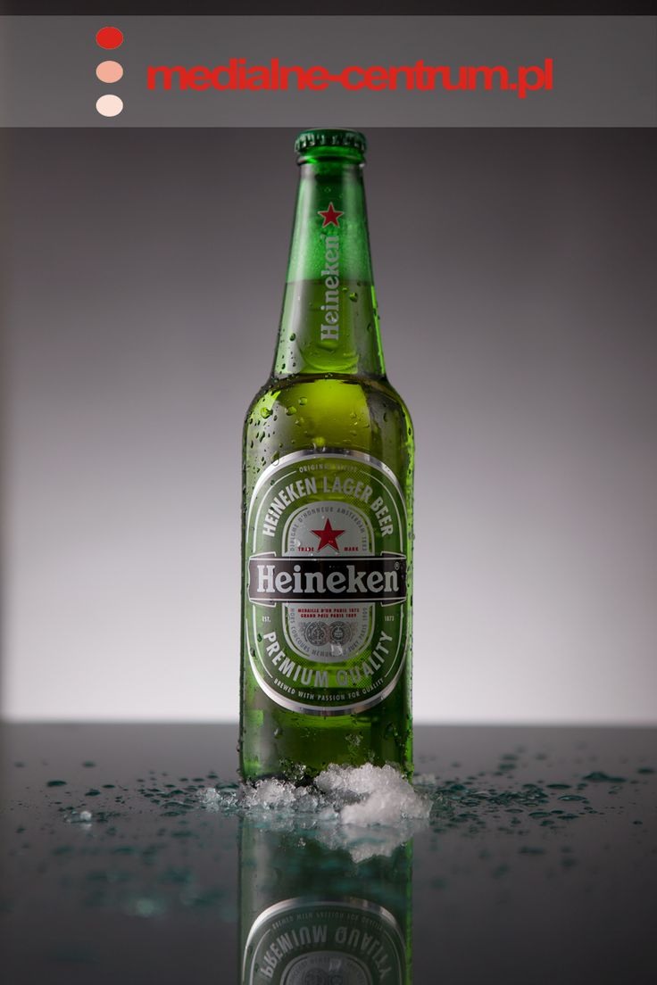 Heineken Piwo, product photography, low key photography, glass photography, imported beer, green heineken beer glass, iced bottle