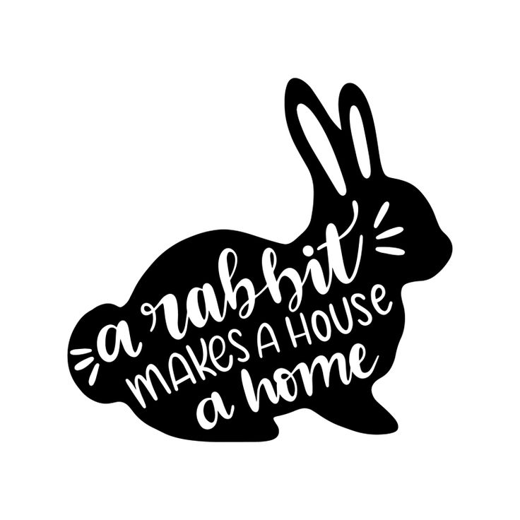 Download A rabbit makes a house a home 5873 free svg svg files for ...