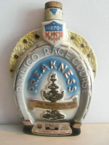 Jim Beam 100th Anniversary Pimlico Race Course Preakness Decanter 1970