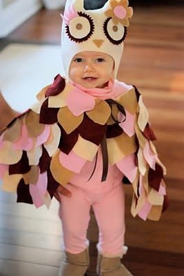 diy owl costume. Good for cold weather! DIY Halloween costumes DIY kids costumes #halloween