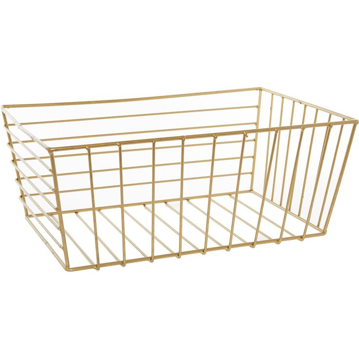 Small Gold Wire Basket - Storage - Home Accessories - Home - TK Maxx