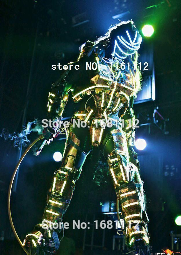 LED Costume2018 /LED Clothing/Light suits/ LED Robot suits/ Luminous costume/ The cost includes stilts568