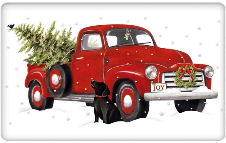 Old Fashioned Truck With Christmas Tree