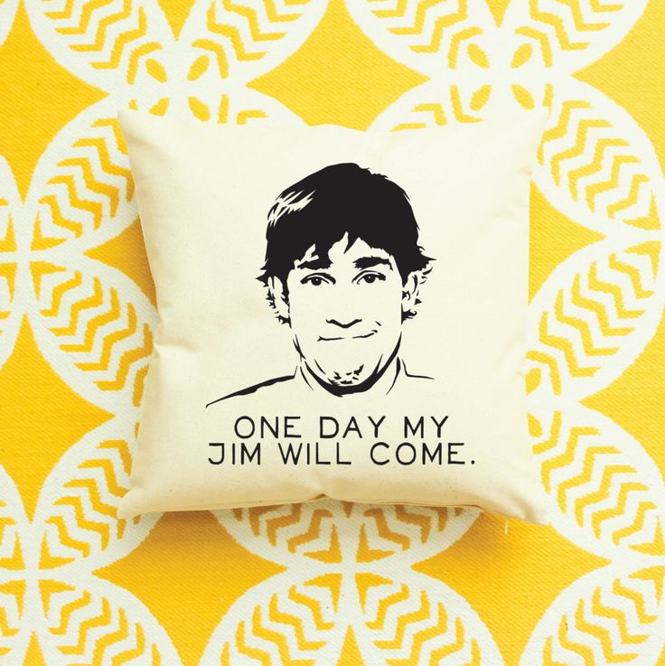 The Office: Jim Halpert Quote Pillow - 4 Different Quotes by AndersAttic on Etsy https://www.etsy.com/listing/228582822/the-office-jim-halpert-quote-pillow-4