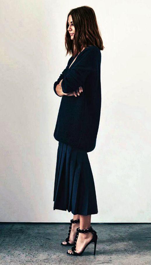 Chic style / all black / NY fashion