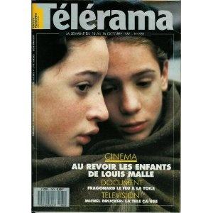 Télérama - n°1969 - 07/10/1987 - Au Revoir les enfants / Louis Malle / Photo de Jean-Louis Bulliard [magazine mis en vente par Presse-Mémoire]