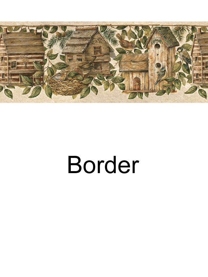Birdhouse border from wallpaperwholesale.com