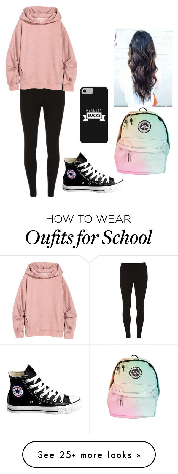 """school SUCKS"" by tessajeane on Polyvore featuring Dorothy Perkins and Converse"