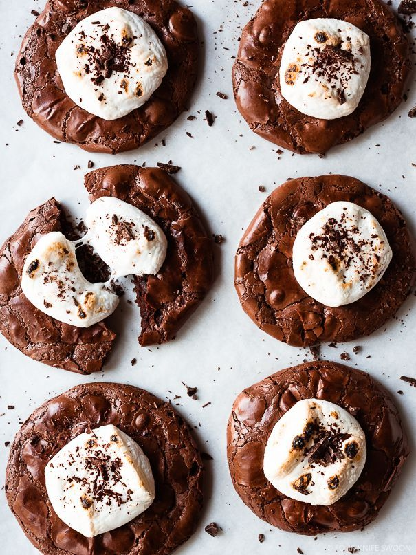Double Chocolate Hot Cocoa Cookies / Fork Knife Swoon @forkknifeswoon