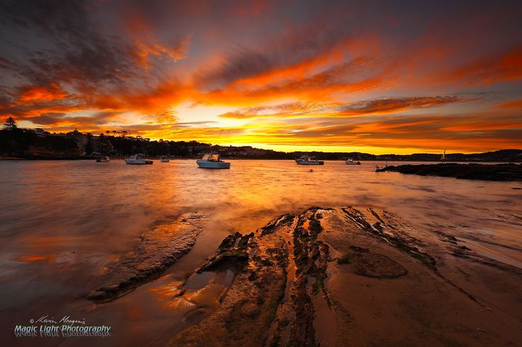Terrigal Haven Sunset May 2016 - Sunset at The Haven, Terrigal on Wednesday night.