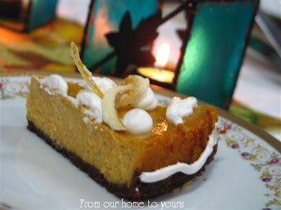 Receitas - From our home to yours - Português: Pumpkin Cheesecake - Cheesecake de Abóbora