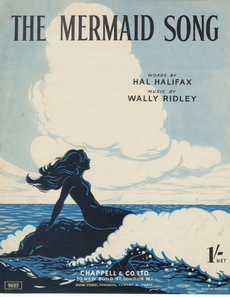 sailorgil:  The Mermaid Song …. Sheet Music, 1948