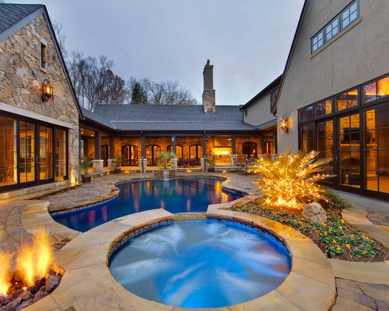 Traditional Pool Lake Houses Design, Pictures, Remodel, Decor and Ideas - page 3
