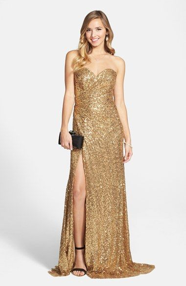La Femme Strapless Sequin Gown Available At Nordstrom Formal Dressesgownswedding