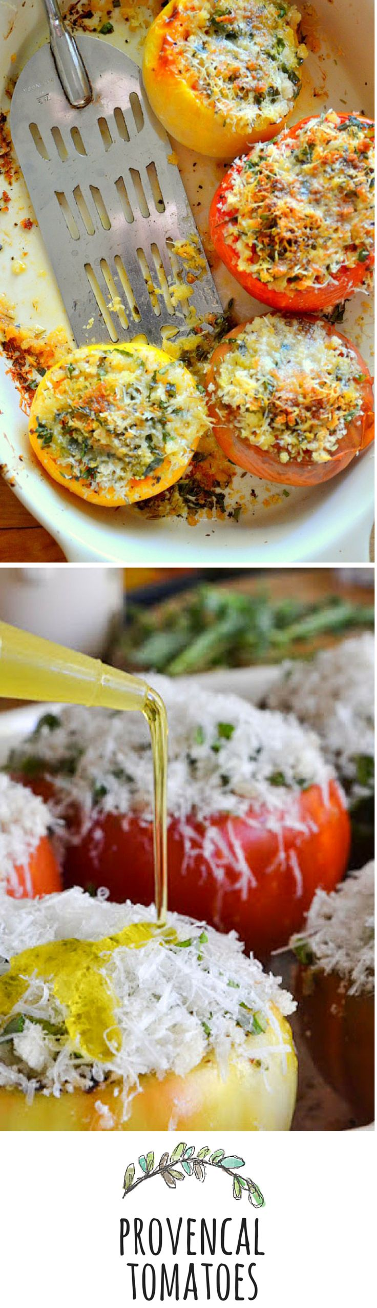 These super simple stuffed tomatoes make an elegant side dish!