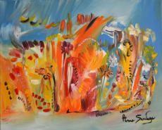 peinture abstraite contemporaine d'ame sauvage, découvrez sa peinture florale à cette adresse http://www.amesauvage.com/artiste-peintre-contemporain-abstrait/tableau-peinture-fleur.html