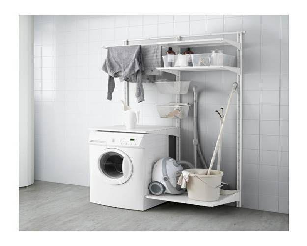 Functional Washer Frame 10 Ikea Laundry Room Ideas For Small Living Spaces Ikea Laundry Ikea Laundry Room Ikea Algot