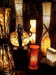 A lighting grouping on display at the Spirithouse store.
