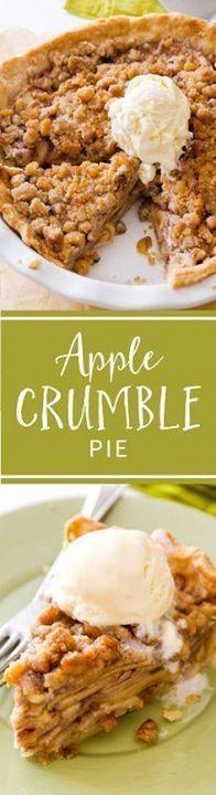 Deep Dish Apple Crum Deep Dish Apple Crumble Pie heavy on the...  Deep Dish Apple Crum Deep Dish Apple Crumble Pie heavy on the crumble topping! Recipe on sallysbakingaddic Recipe : http://ift.tt/1hGiZgA And @ItsNutella  http://ift.tt/2v8iUYW