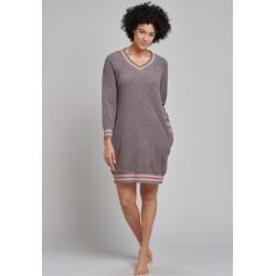 Nachthemd langarm Frottee Sleep & Lounge taupe-meliert - Reflexion 40Schiesser.com