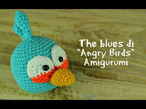 "The Blues di ""Angry Birds"" Amigurumi 