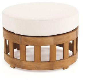 Kafelonia 24-Inch Teak Ottoman - modern - ottomans and cubes - Westminster Teak Furniture