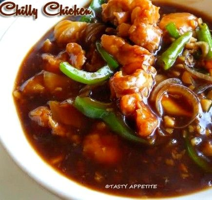 Chilly Chicken Gravy / Restaurant Style Recipe:  Here goes the most easy & delicious chilly chicken gravy recipe. In this recipe, bonele...
