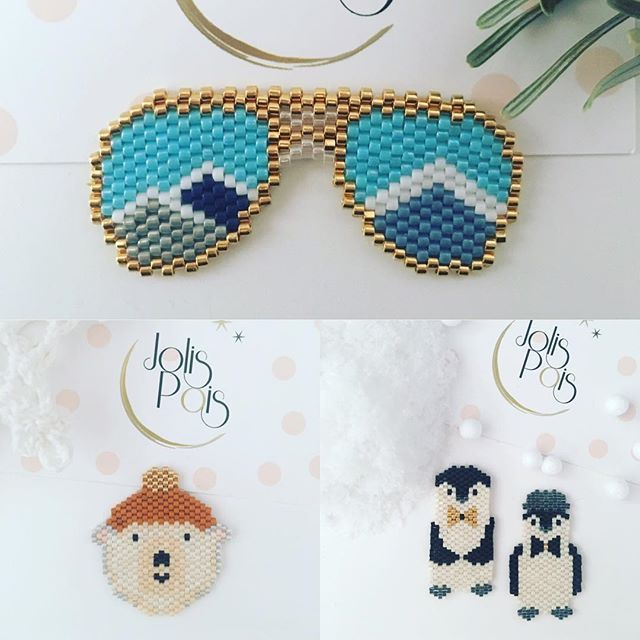 C'était DECEMBRRRRE ❄️ #jolispois #motifjolispois #broche #madeinbordeaux #handmade #mondiyamoi #handmadejewelry #jenfiledesperlesetjassume #tissage #tissageperles #miyuki #miyukibeads #miyukidelicas