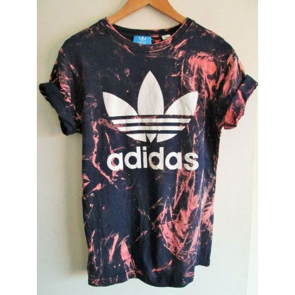 Vintage acid wash tie dye adidas originals retro rave festival unique... ❤ liked on Polyvore featuring tops, t-shirts, vintage t shirts, skate tees, tie dye tee, vintage tees and tie dyed t shirts