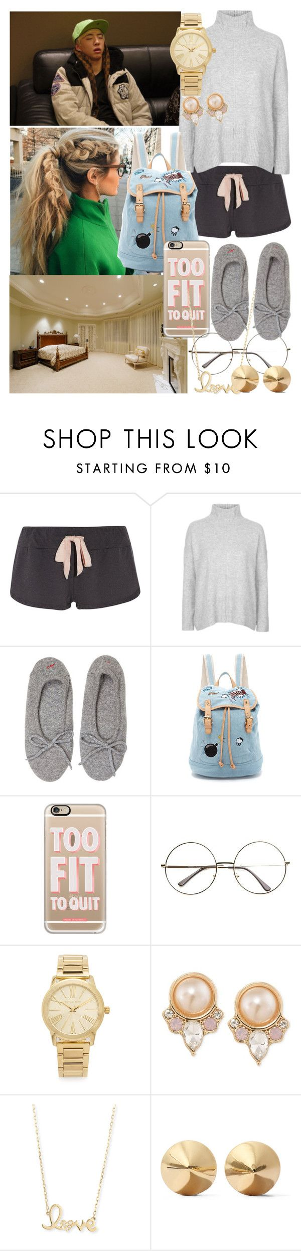 """yong guk falling asleep at your house"" by viminkook ❤ liked on Polyvore featuring Eberjey, Topshop, Banjo & Matilda, Paul & Joe Sister, Casetify, ZeroUV, Michael Kors, Carolee, Sydney Evan and Eddie Borgo"