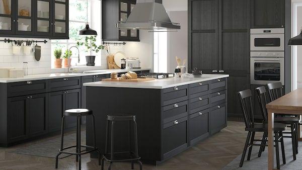 Seria Lerhyttan Czarny Kitchen Inspirations Ikea Kitchen Inspiration Light Grey Kitchens