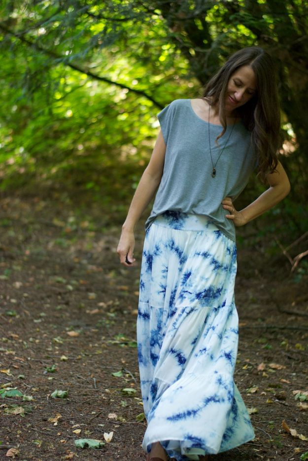 Burda Folk Skirt + Sleeveless Grainline Hemlock Tee | CUT CUT SEW