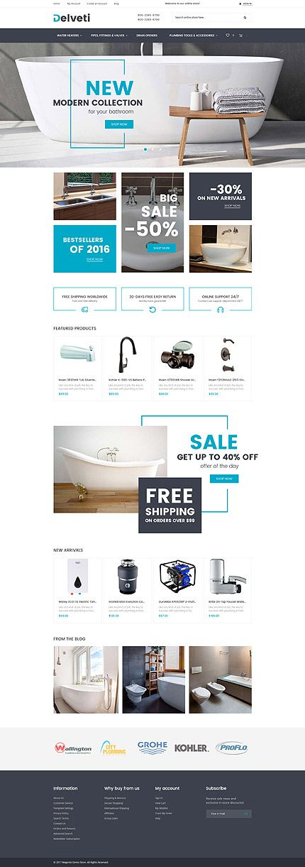 Bathroom Supplies Online Store #Magento #template. #themes #business #responsive #webshop #Magentothemes