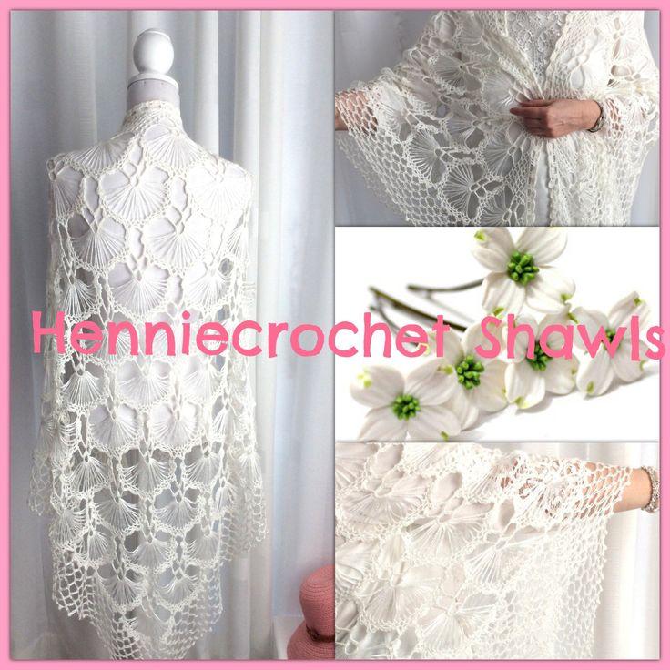 Een persoonlijke favoriet uit mijn Etsy shop https://www.etsy.com/nl/listing/547651277/gehaakte-bruid-sjaal-bruiloft-omslagdoek