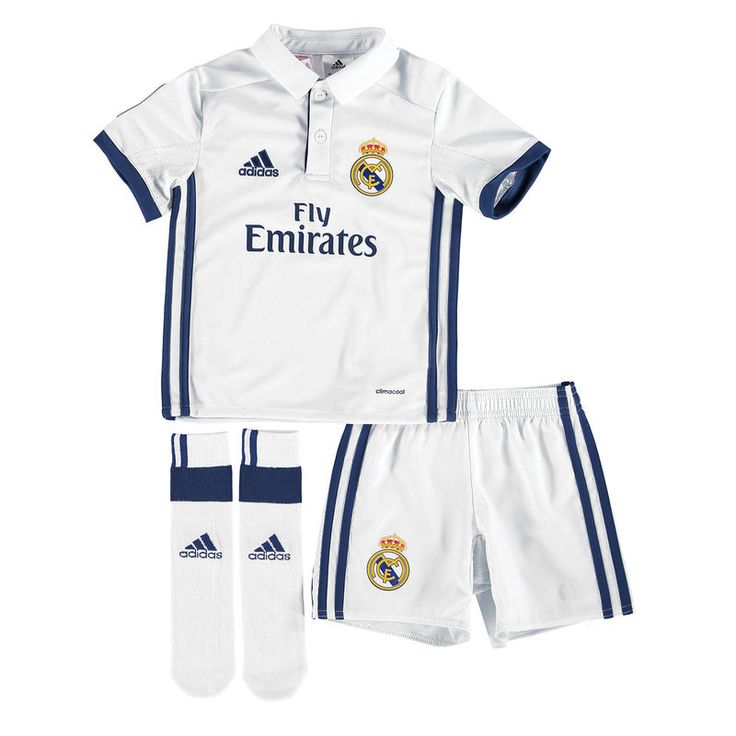 Real Madrid adidas Toddler 2016/17 Home Mini Kit - White