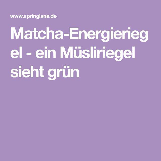 Matcha-Energieriegel - ein Müsliriegel sieht grün