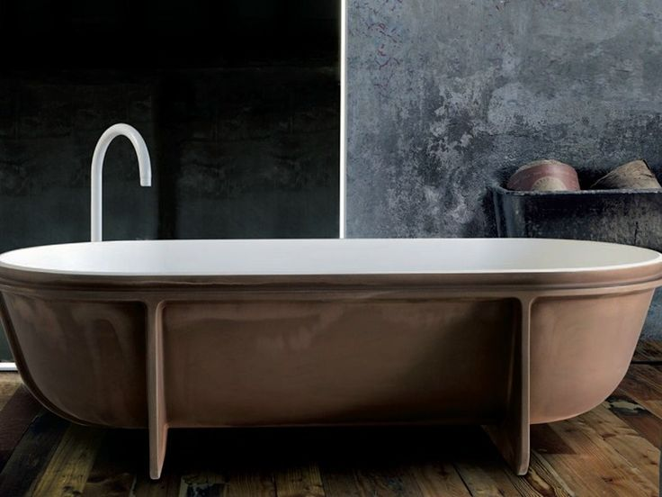 Vasca da bagno centro stanza in Cristalplant® Collezione Controstampo by FALPER   design Vittorio Venezia, Dario Gaudio