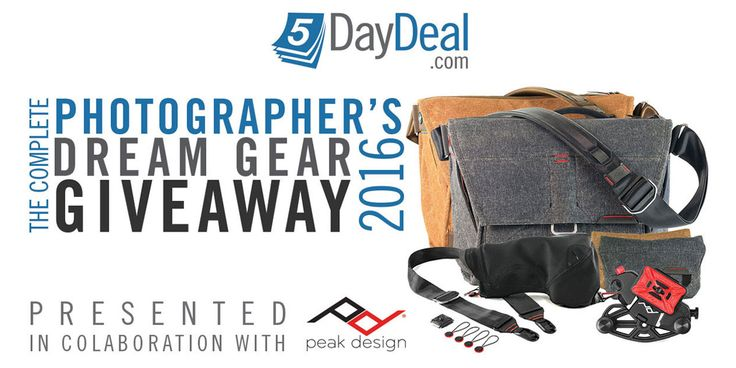 I just entered to win the Photographer's Dream Gear Giveaway! - https://5daydeal.com/giveaways/5daydeal-peak-design-jul-2016/?lucky=224