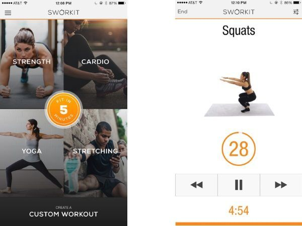 Sworkit (Free; Android, iOS)
