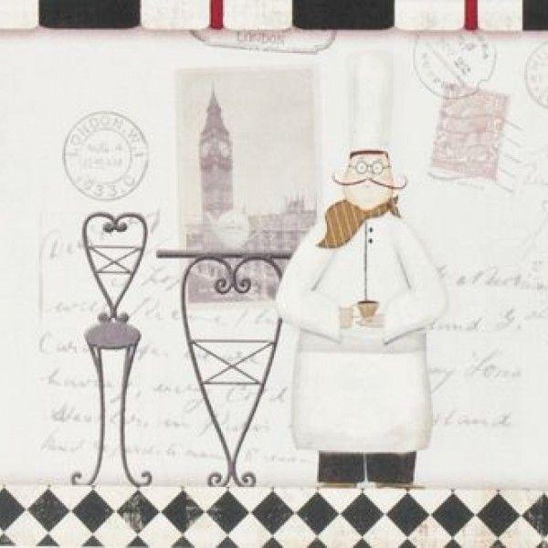 Border Galerie Aquarius G90022 - Border do kuchni w stylu vintage. Świetnie sprawdzi się w nowoczesnych stylizacjach i w klimacie paryskiego bistro.