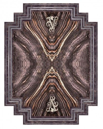 """Carpet in bamboo silk, handcrafted in high-definition of details, shades of color emphasized by """"carving"""" handwork, over 150 color tones, inserts in extremely fine pure silk for more detailed shades."""