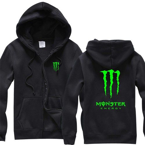 Monster Energy Night Glow Hoodies - Black - Shipping Cap Promotion- - TopBuy.com.au