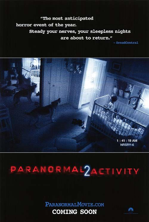 """Paranormal Activity 2."" (original poster.) 2010."