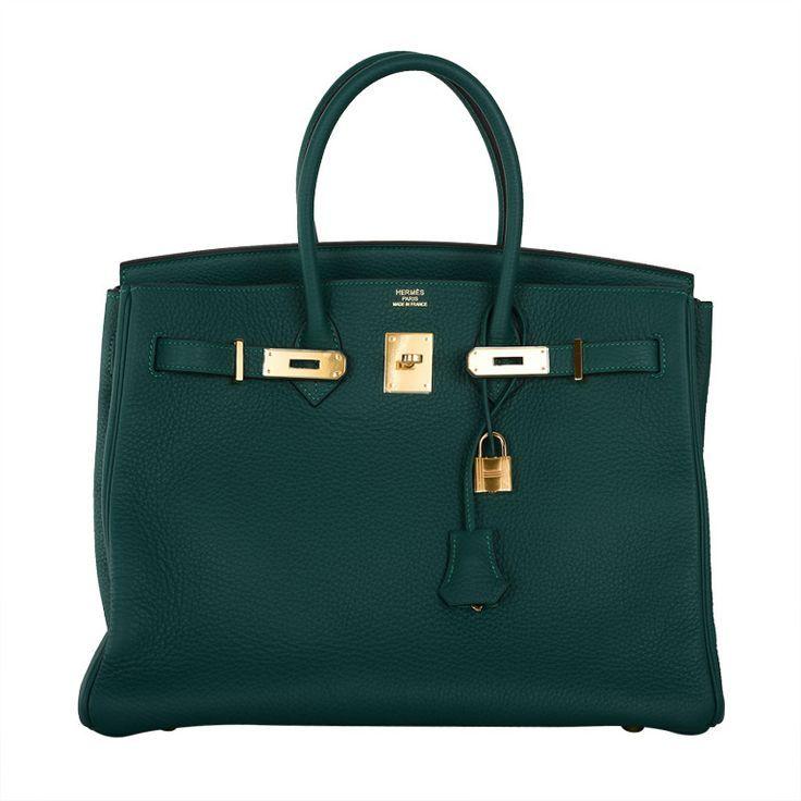 New Color Hermes Birkin Bag 35cm Malachite Gold Hardware