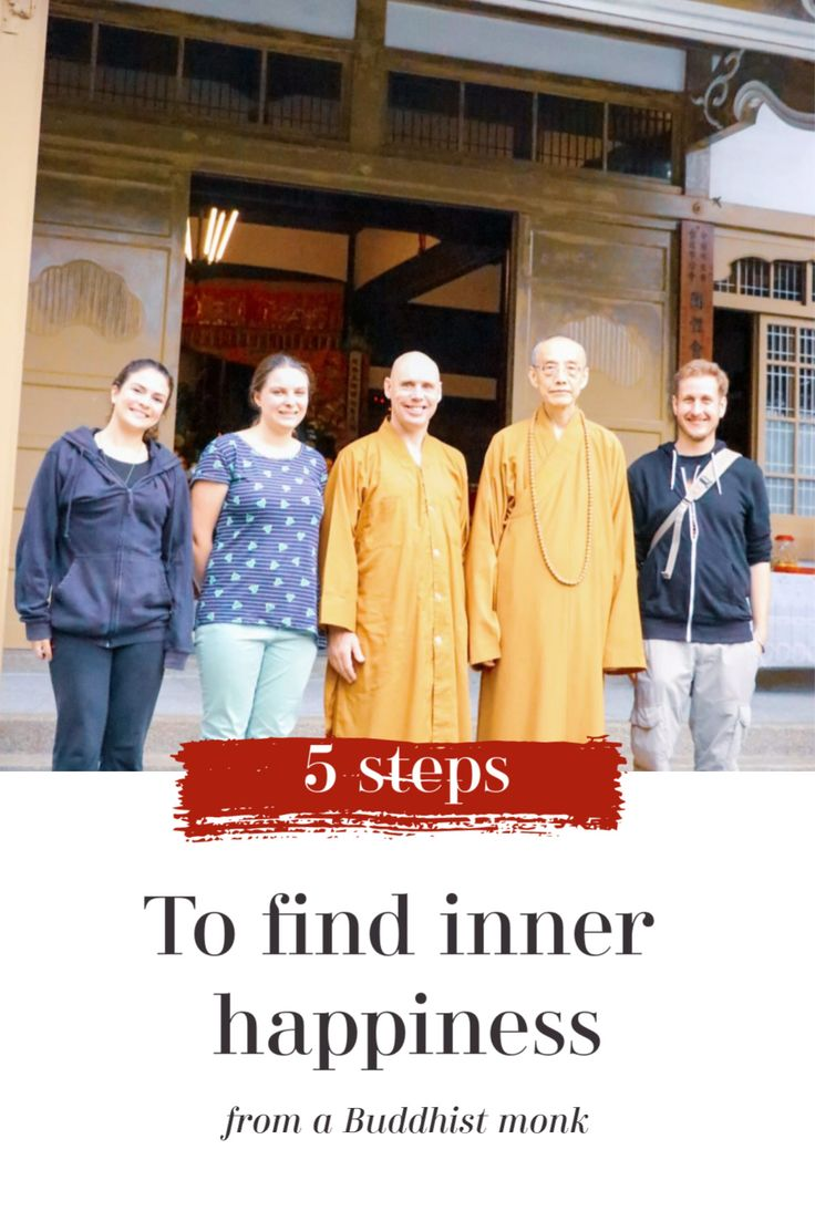 How to find inner happiness? 5 steps by a Buddhist monk in