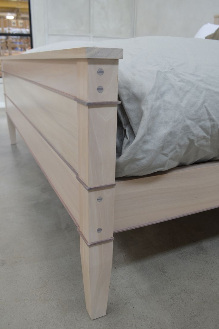 The Trenail Simple Bed detail. Made using a 16th century boatbuilding technique.