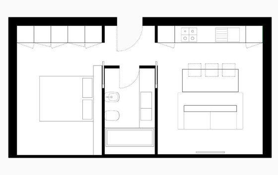 Plano de pequeño apartamento