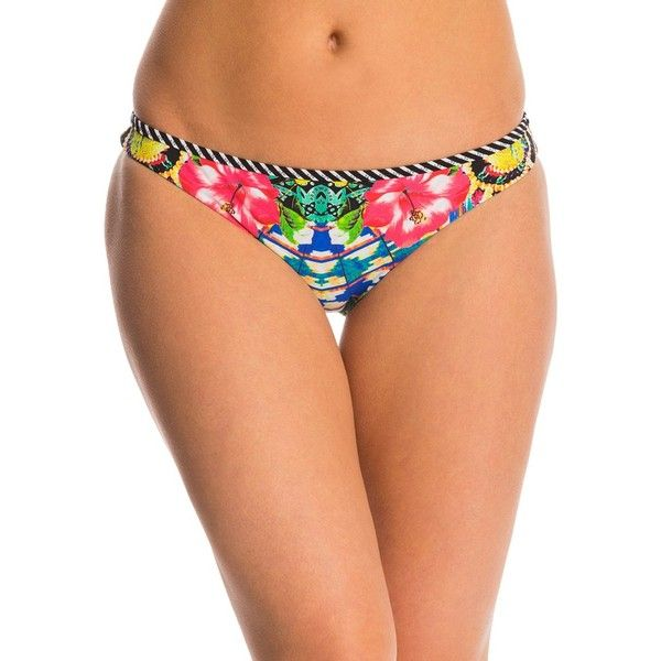 Red Carter Shangri La Reversible Classic Hipster Bikini Bottom (86 CAD) ❤ liked on Polyvore featuring swimwear, bikinis, bikini bottoms, black multi, bottom bikini, reversible bikini, chevron bikini, bikini bottom swimwear and swim bikini bottoms