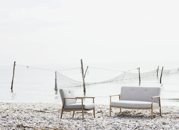 Valther, chair & 2 seater, Vega sand dune #retro #sofacompany