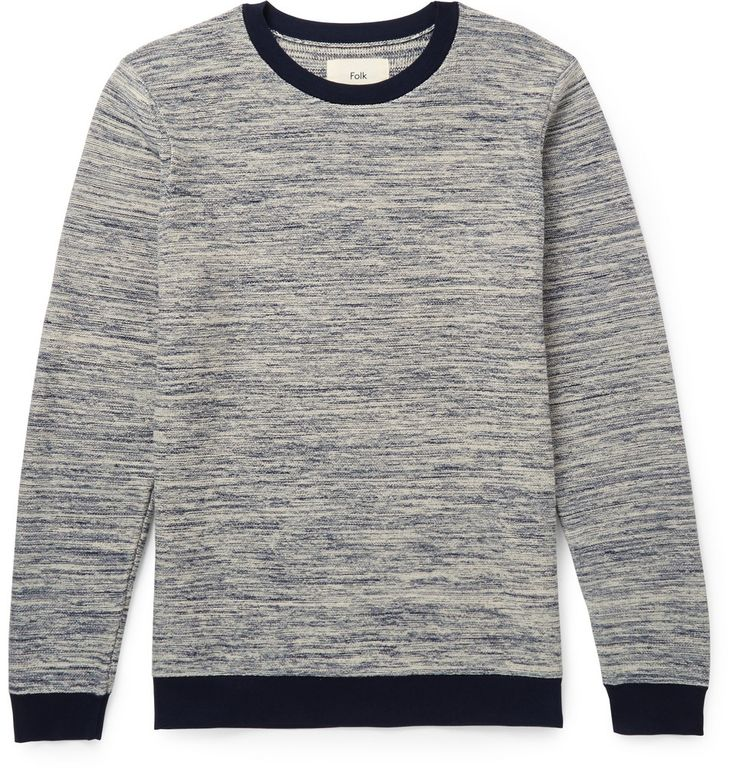 Folk - Contrast-Knit Cotton Sweater |MR PORTER